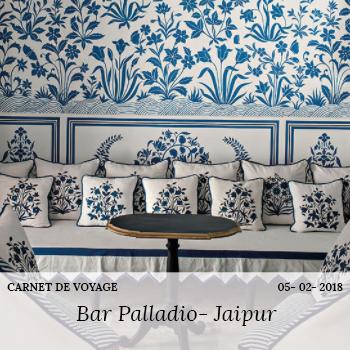 carnet de voyage bar Palladio Jaipur